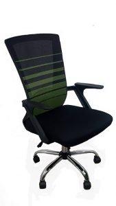 Silla Giratoria Operativa con lineas verdes 4002L